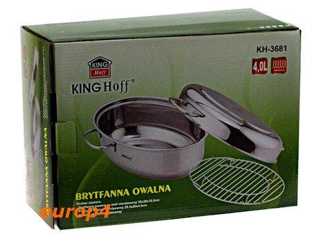 BRYTFANNA Kinghoff KH 3682 GĘSIARKA STALOWA +Patelnia parowar pokrywka