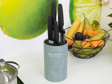 Blok Edenberg EB 5102 G uniwersalny stojak do noży kuchennych szary marmur