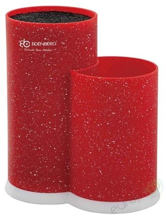 Blok do noży Edenberg EB 5105 stojak na akcesoria kuchenne kolor czerwony