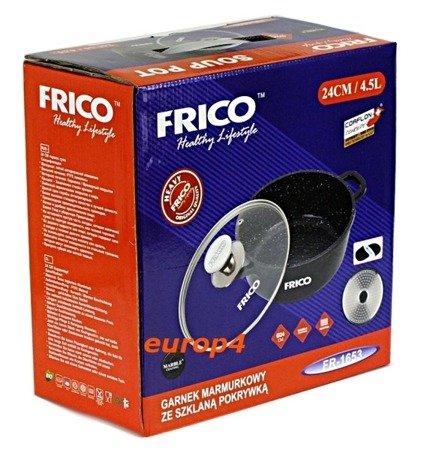 Brytfanna Frico FR 1654 garnek 5,6 L indukcja powłoka marmurowa pokrywka
