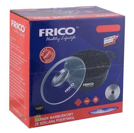 Brytfanna Frico FR 4407 zestaw Gęsiarka 6.7 L Garnek indukcja pokrywka