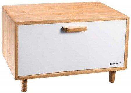 Chlebak drewniany biały pojemnik na pieczywo Klausberg KB 7400 EB 125