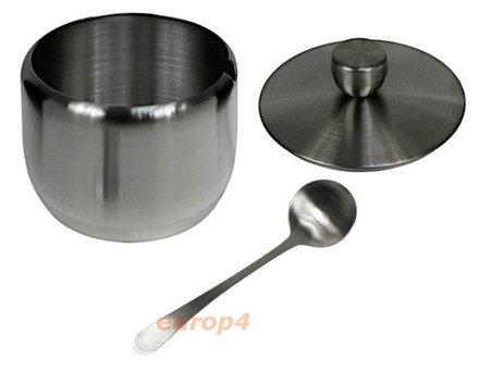 Cukiernica pojemnik na cukier+łyżeczka metal 4504