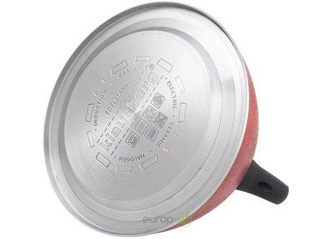 Czajnik Klausberg KB 7349 Indukcyjny stalowy z gwizdkiem 3L Czerwony