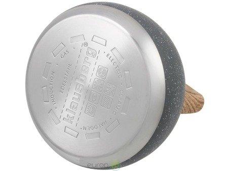 Czajnik stalowy Edenberg EB 8801 Tradycyjny z gwizdkiem na indukcje 3L Szary marmur