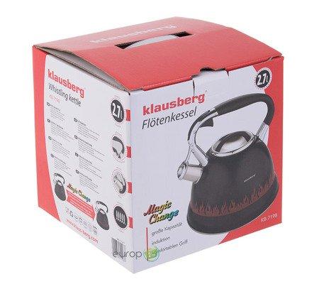 Czajnik stalowy Klausberg KB 7198 z gwizdkiem 2.7 L