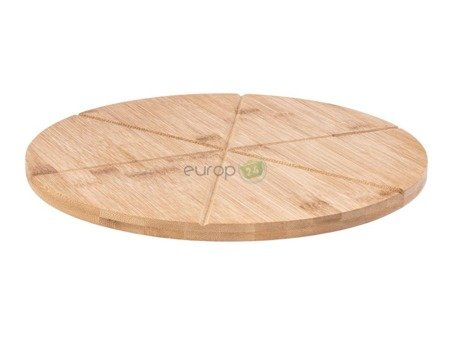 Deska bambusowa do pizzy TADAR drewniana mocna33 cm x 1.5 cm