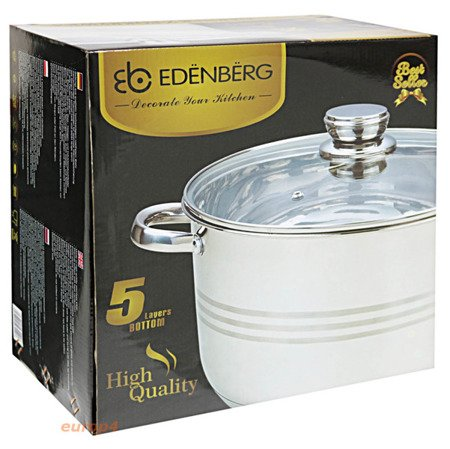 Garnek Edenberg EB 3020 zestaw pojemność 12 L