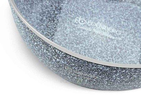 Garnek Edenberg EB 8041 powłoka marmurowa wolna od PFOA