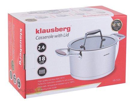 Garnek Stalowy Klausberg KB 7225 pojemność 1.8 L