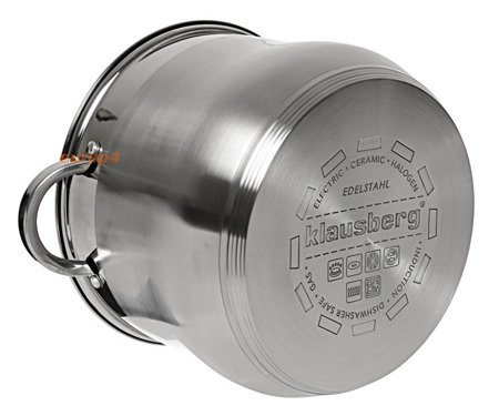 Garnek stalowy z pokrywką Klausberg KB 7167 Indukcyjny 18.7 L