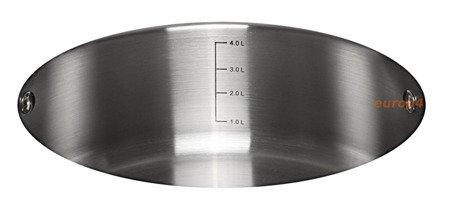 Garnek stalowy z pokrywką Klausberg KB 7173 gaz indukcja 4.6 L