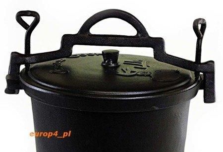 Garnek żeliwny 1236 myśliwski kociołek 7 L