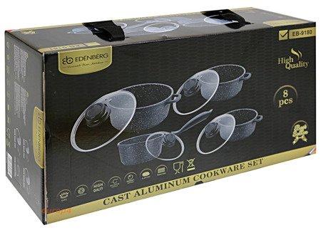 Garnki Edenberg EB 9180 zestaw garnków marmurowych indukcyjnych
