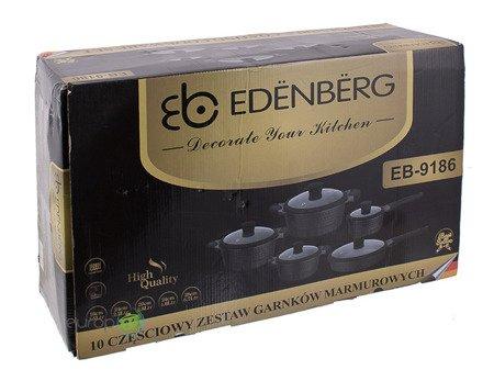 Garnki Edenberg EB 9186 zestaw garnków marmurowych indukcja