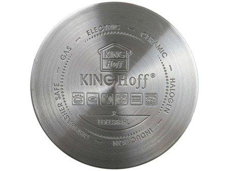 Garnki KingHoff KH 1202 indukcyjne zestaw 8 elem stalowych garnków