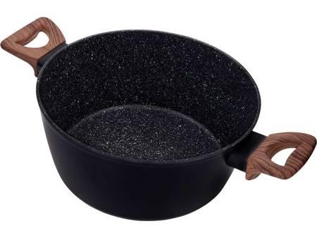 Garnki granitowe patelnia Tefal z pokrywkami indukcyjne czarne