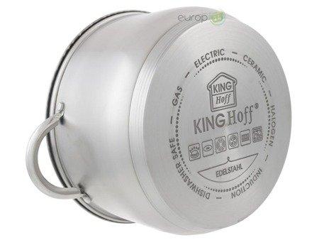 Garnki stalowe KingHoff KH 4446 zestaw garnków indukcja