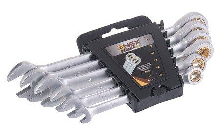 Klucze Onex OX 2064 płasko oczkowe grzechotka Zestaw 6 elementów