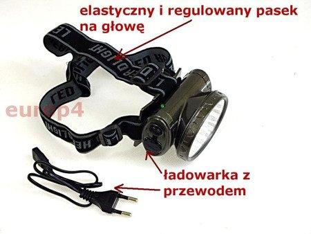 Latarka Zikon ZK 1522 13 LED czołowa akumulatorowa na głowę szara