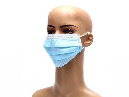 Maseczki ochronne jednorazowe 3-warstwowe higieniczne antywirusowe 1000 szt