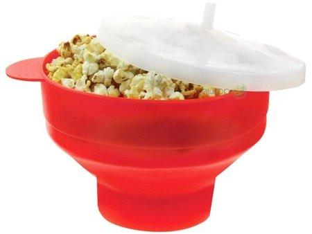 Miska KingHoff KH 1258 silikonowa z pokrywką do popcornu mikrofali