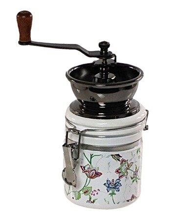Młynek ręczny KingHoff KH 4145 do Mielenia KAWY tradycyjny jasny