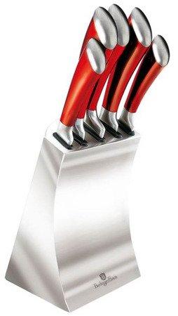 Noże Berlinger Haus 2135 kuchenne stalowe komplet zestaw czerwone
