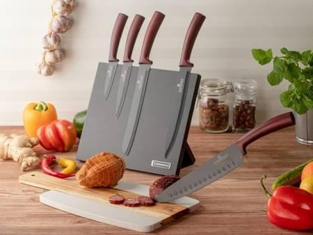 Noże kuchenne stalowe Edenberg EB 963 5 szt w magnetycznym bloku