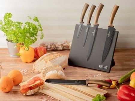 Noże kuchenne stalowe Edenberg EB 964 5 szt w magnetycznym bloku