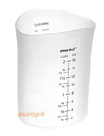 Pojemnik Kinghoff KH 4663 silikonowy kubek miarka mąka cukru