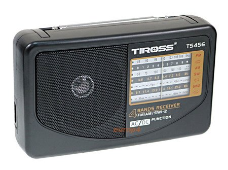 Radio Tiross TS 456 przenośne mini na baterie+zasilanie 230V