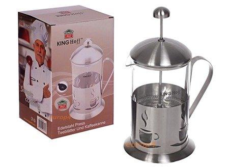 Szklany zaparzacz KingHoff KH 4831 do herbaty 600 ml ziół kawy dzbanek
