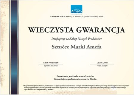 Sztućce Amefa Chopin 8420 zestaw 30 elem dla 6 osób stal 18/10