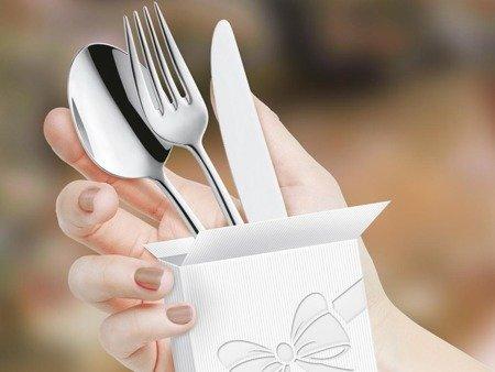 Sztućce Bologna 1570 Amefa 30 sztuk dla 6 osób łyżeczki latte w zestawie