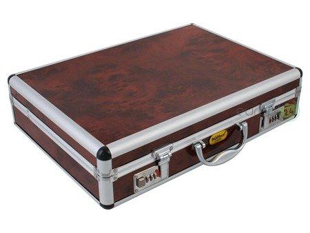 Sztućce Hoffner HF 2670 SATYNA walizka 72 elementy zestaw widelce łyżki