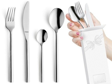 Sztućce obiadowe Amefa Carlton 1050 48 elementów dla 12 osób 18/0