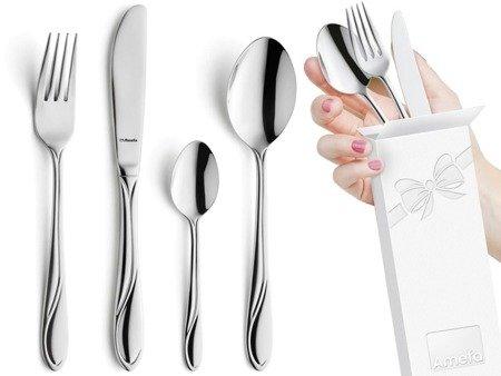 Sztućce obiadowe Amefa Whisper 1405 4 elementy dla 1 osoby 18/0