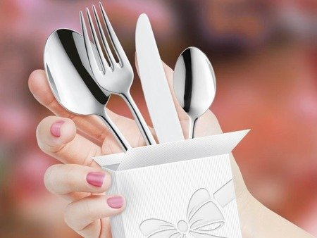 Sztućce restauracyjne Palmon 8410 Amefa 24 szt na przyjęcia weselne