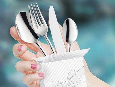 Sztućce weselne obiadowe masywne Amefa Duke 5280 48 elem na przyjęcia weselne