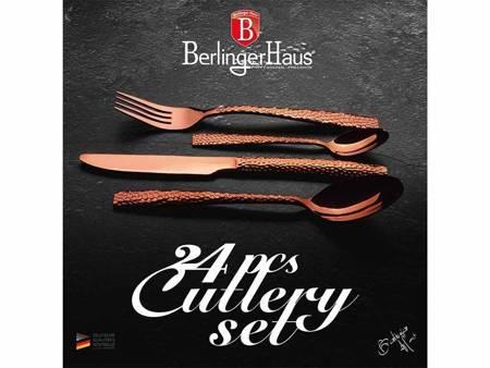 SztućceBerlinger Haus BH 2617 24 sztuki dla 6 osób różowe złoto polysk