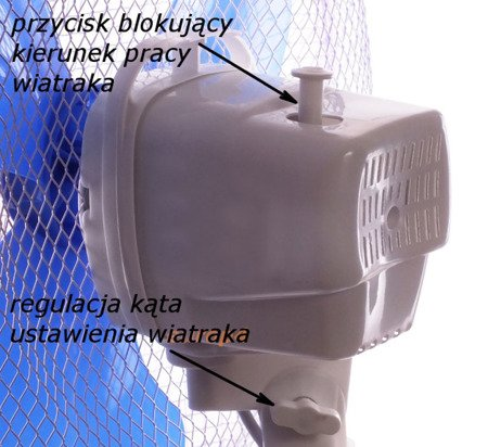 Wiatrak stojący wentylator podłogowy biurkowy 3w1 KENEX