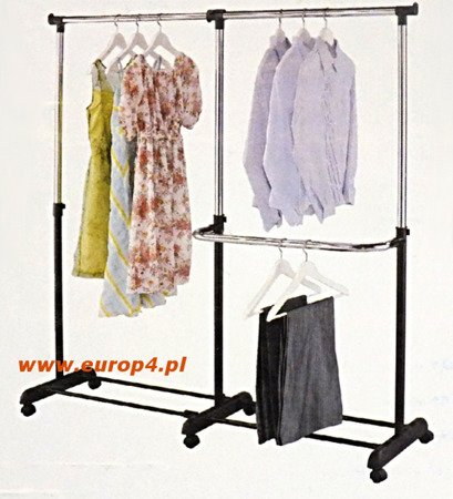Wieszak stojak na kółkach Metlex MX 3073 ubrania garderoba