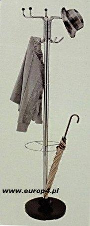 Wieszak stojak na ubrania Metlex MX 3078 parasol garderoba srebrny