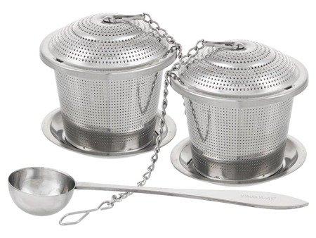 Zaparzacz Kinghoff KH 1264 x2 do herbaty ziół stalowy z łyżeczką