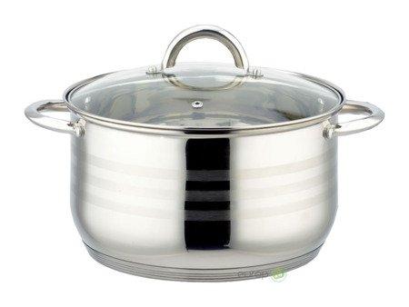 Zestaw garnków stalowych Edenberg EB 4043 garnek gaz indukcja 12 elementów