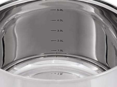Zestaw garnków stalowych Zilner ZL 8077 garnki stalowe indukcyjne z czajnikiem
